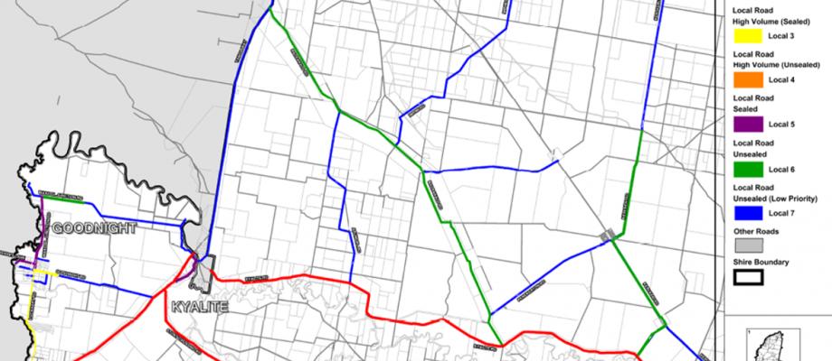 GIS Road Maps Wakool Shire NSW iPLAN PROJECTS